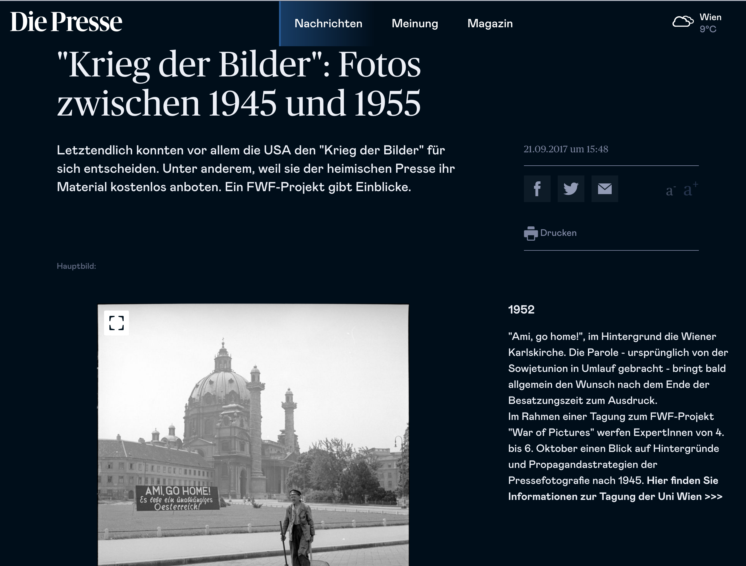 Besatzungszeit war of pictures Pressefotografen