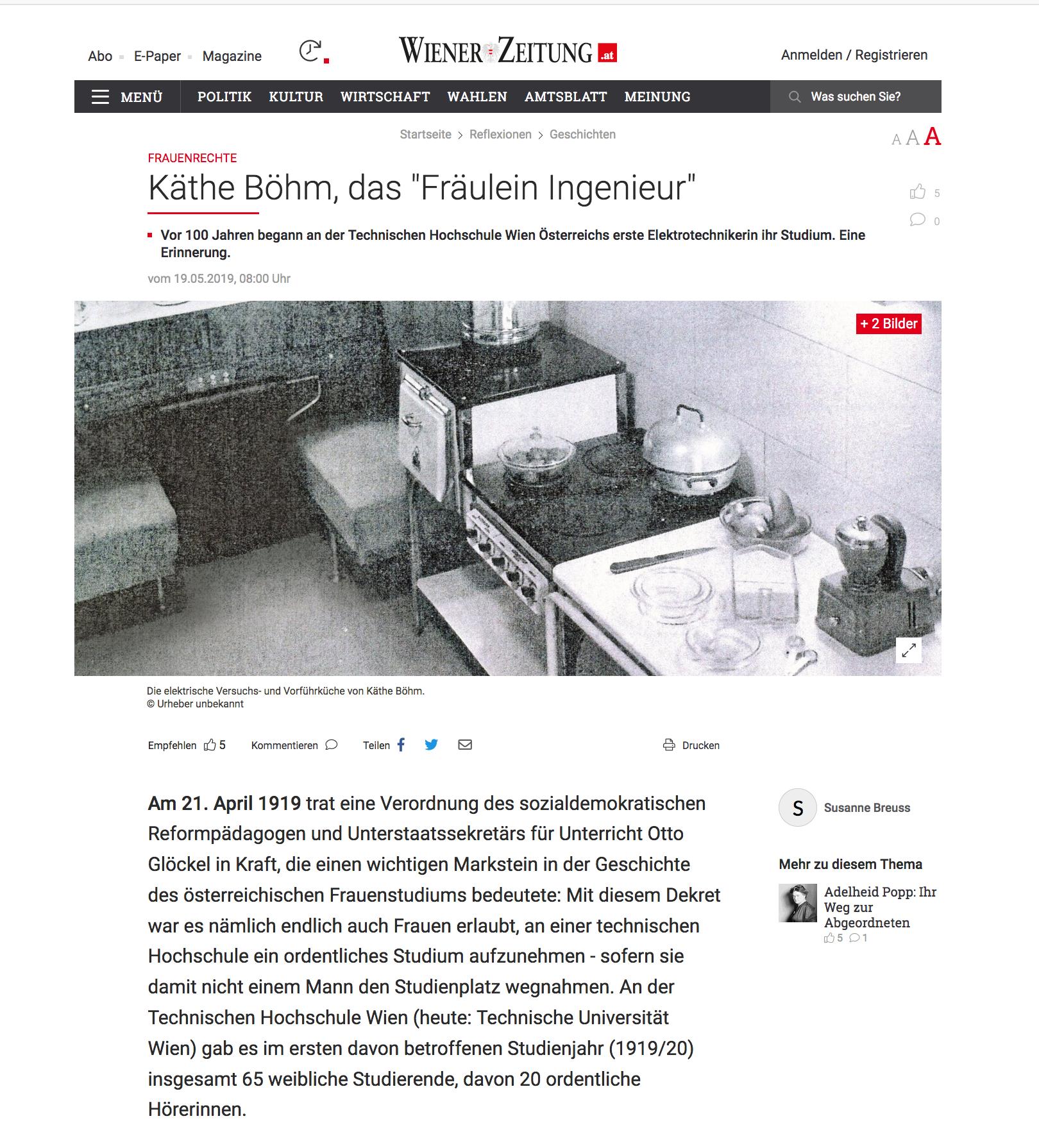 TU Wien Technikstudium Frauen Wiener Zeitung