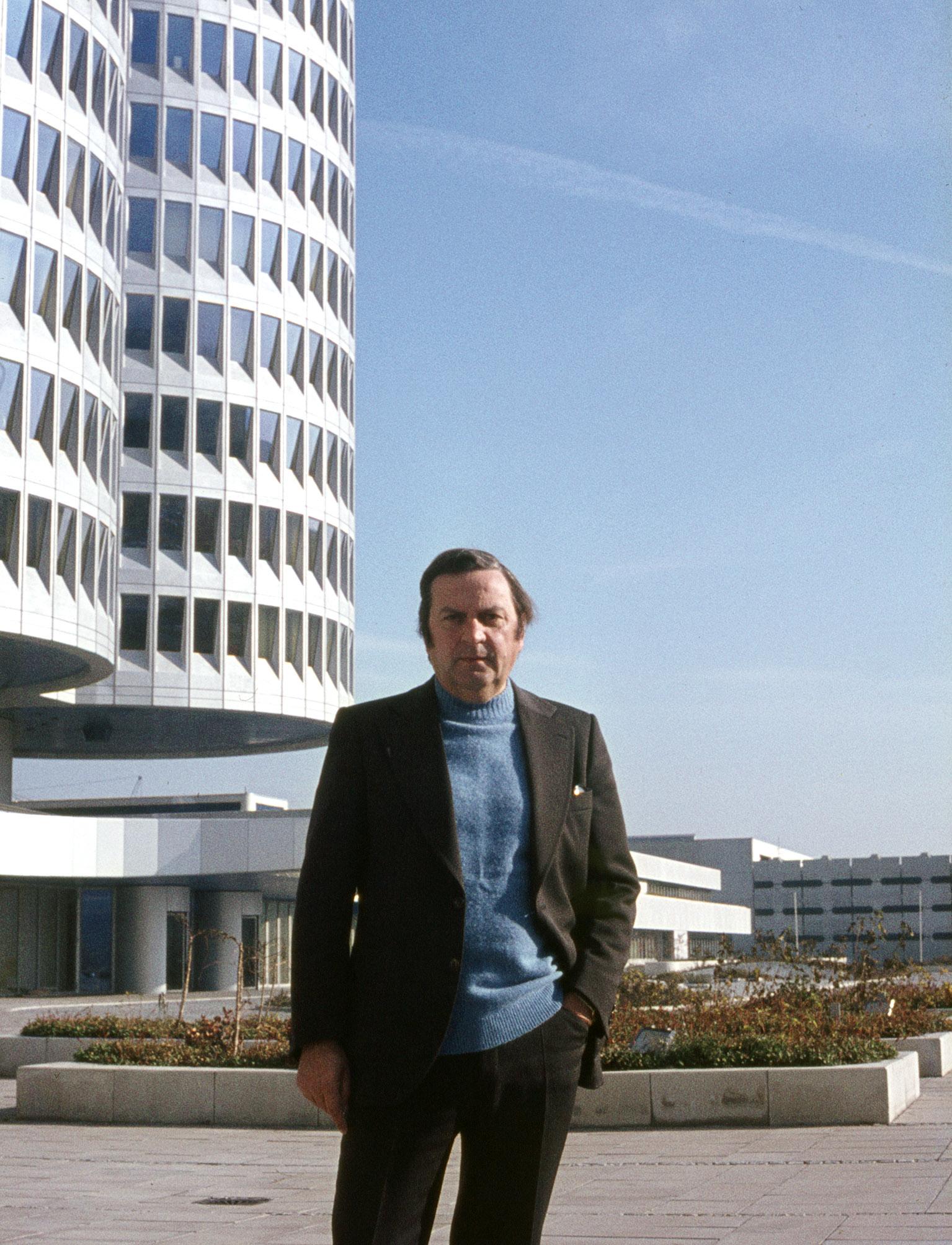 Karl Schwanzer vor BMW ca 1972 c Atelier Schwanzer